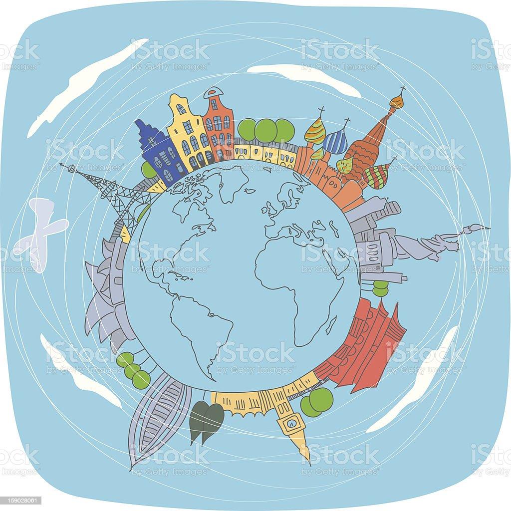 World travel royalty-free stock vector art