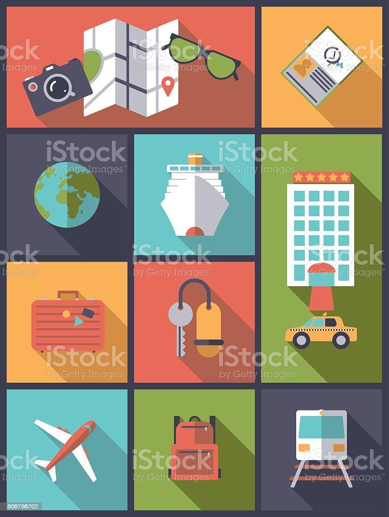 World Travel vector illustration. vector art illustration