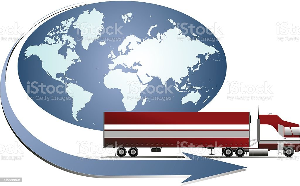 World Trucking royalty-free stock vector art