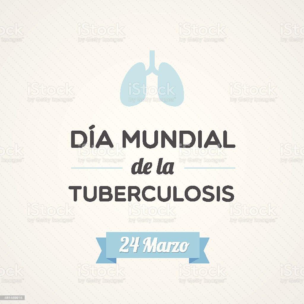 World Tuberculosis Day royalty-free stock vector art