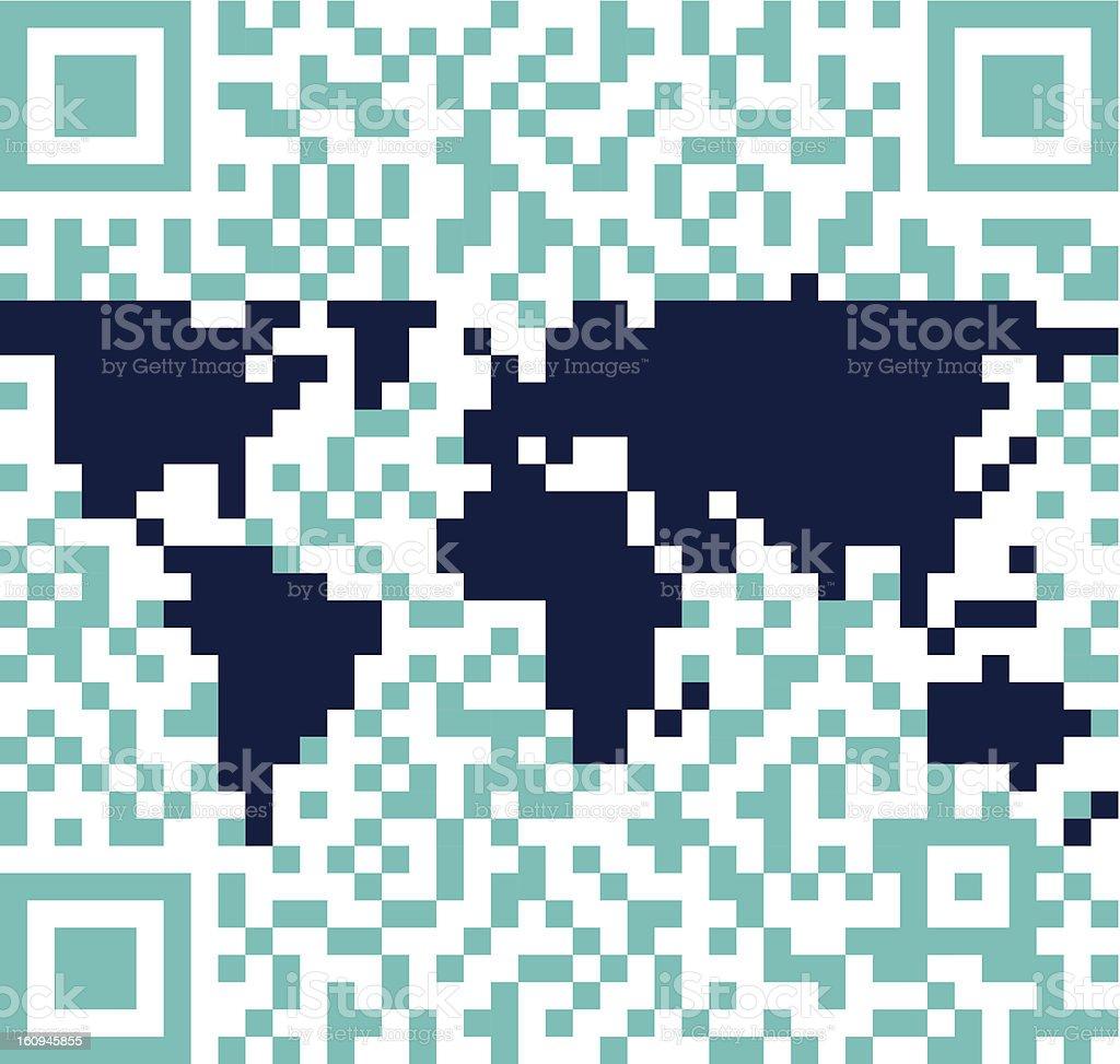 QR world royalty-free stock vector art