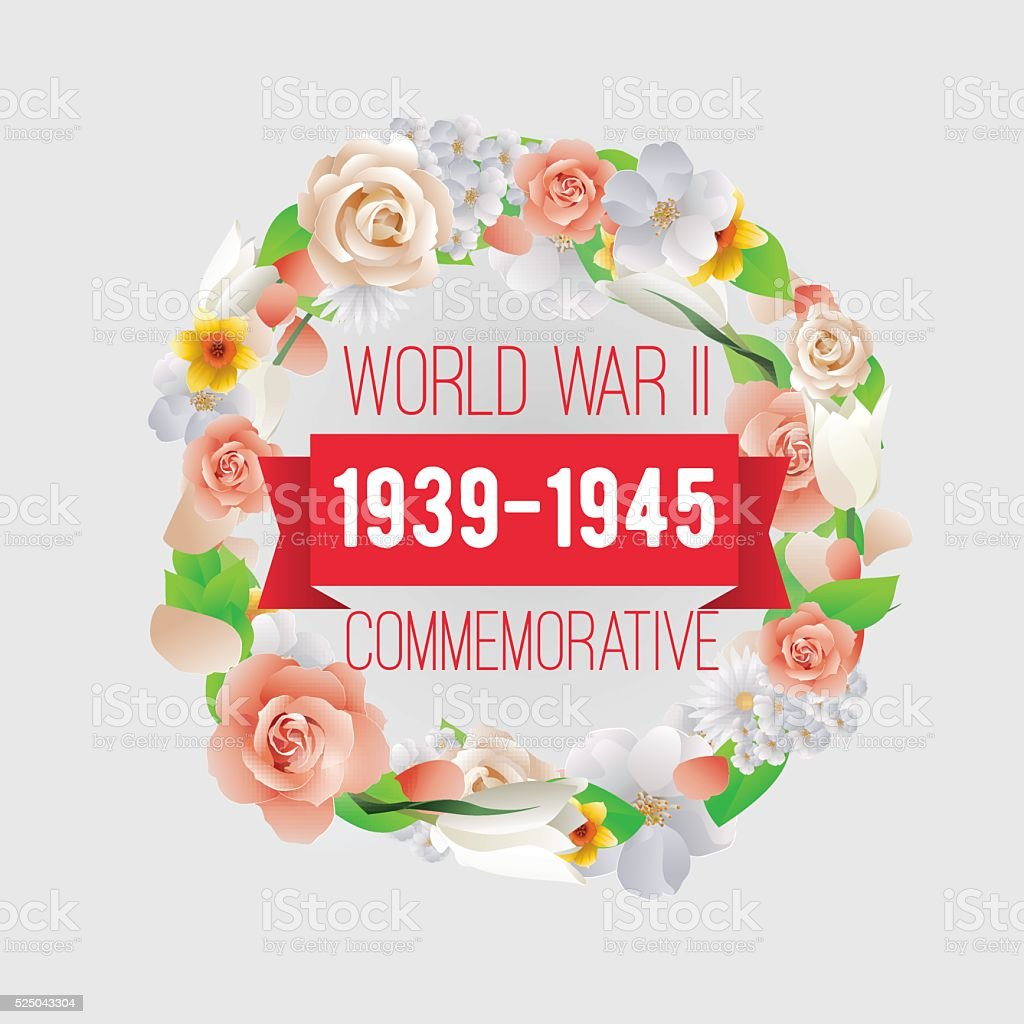 World war II commemorative day. Vector design vector art illustration