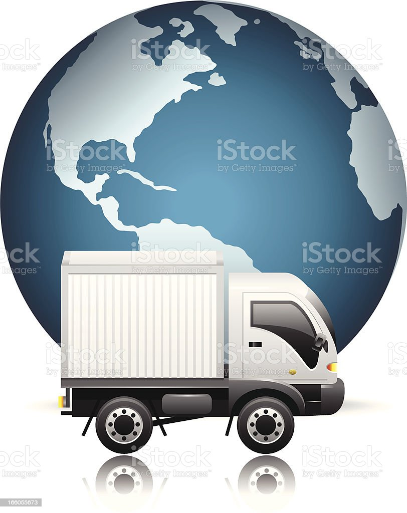 World Wide Delivery royalty-free stock vector art