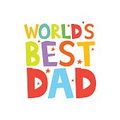 worlds best dad letters fun kids style print poster - Fun Letters To Print
