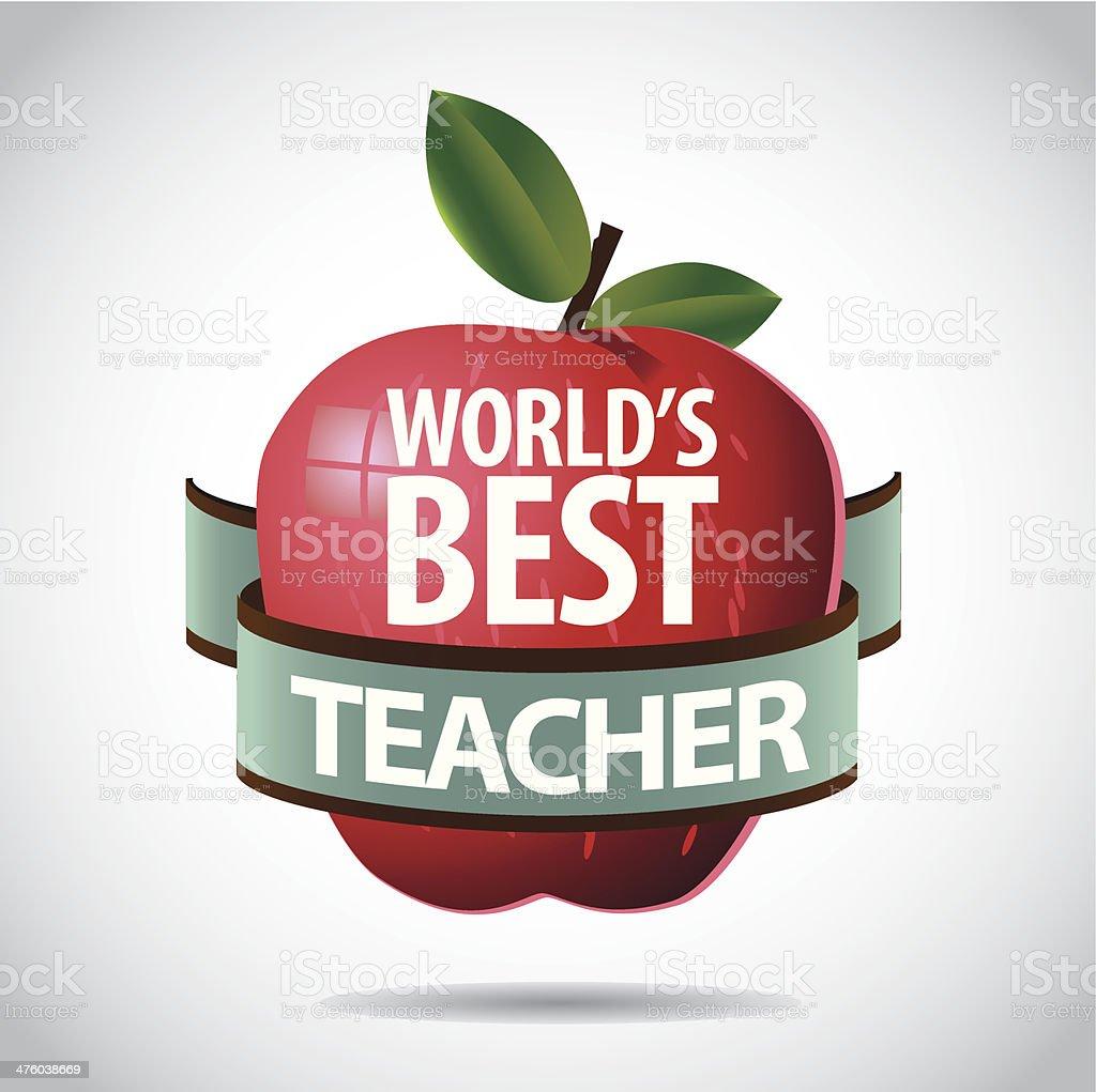 World's Best Teacher icon vector art illustration
