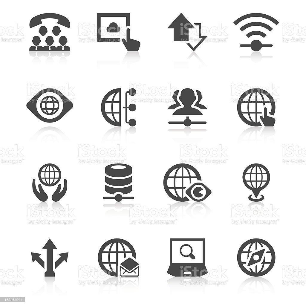 Worldwide communication concept vector icons vector art illustration