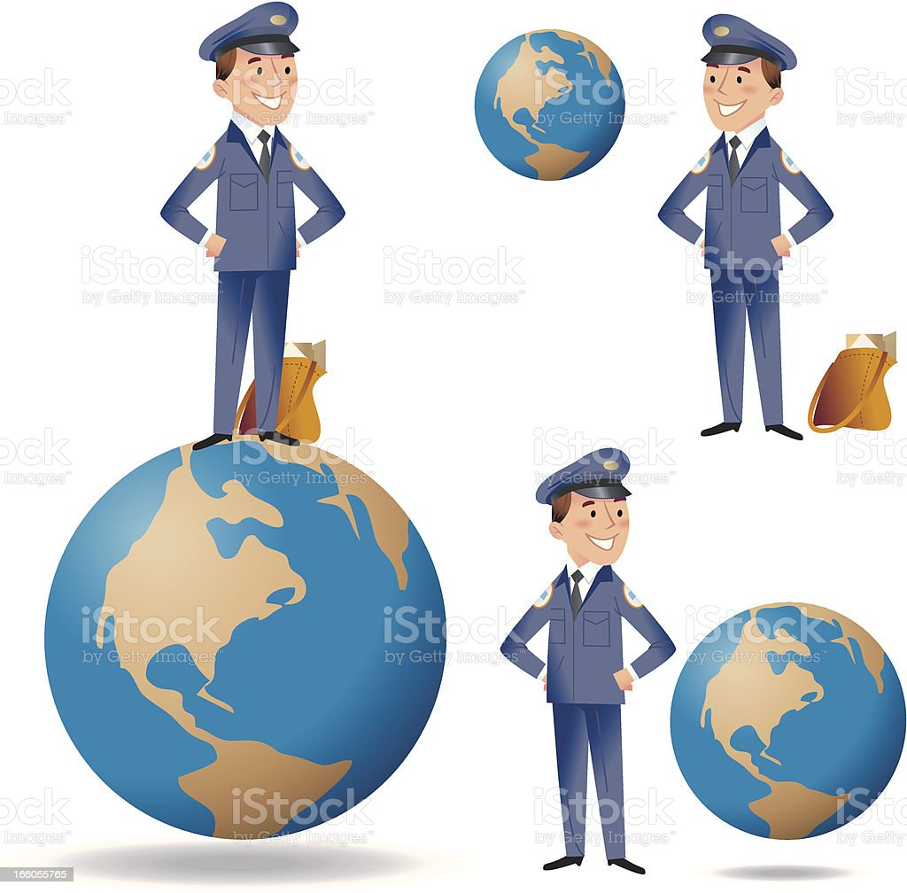 Worldwide Delivery royalty-free stock vector art