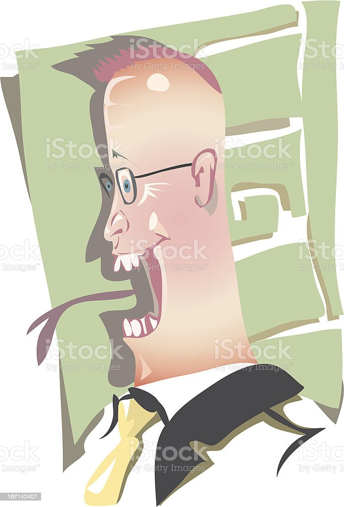 worm tongue vector art illustration