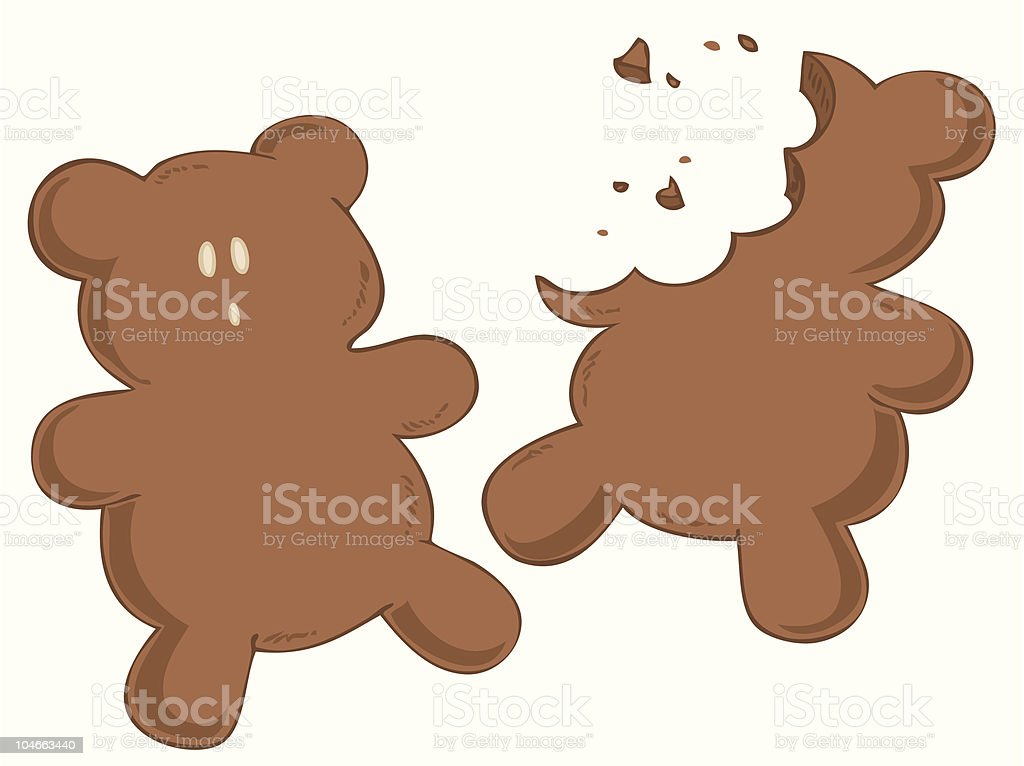Worried gingerbread. vector art illustration