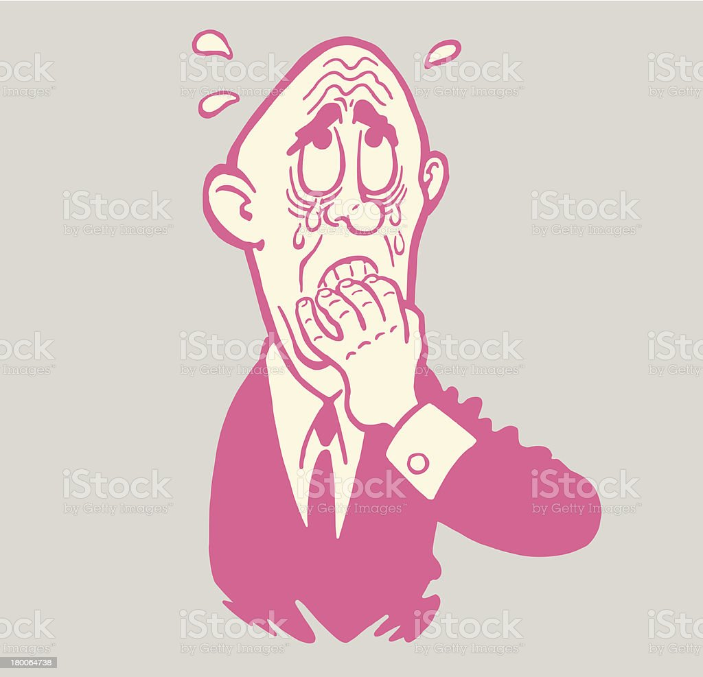 Worried Man royalty-free stock vector art