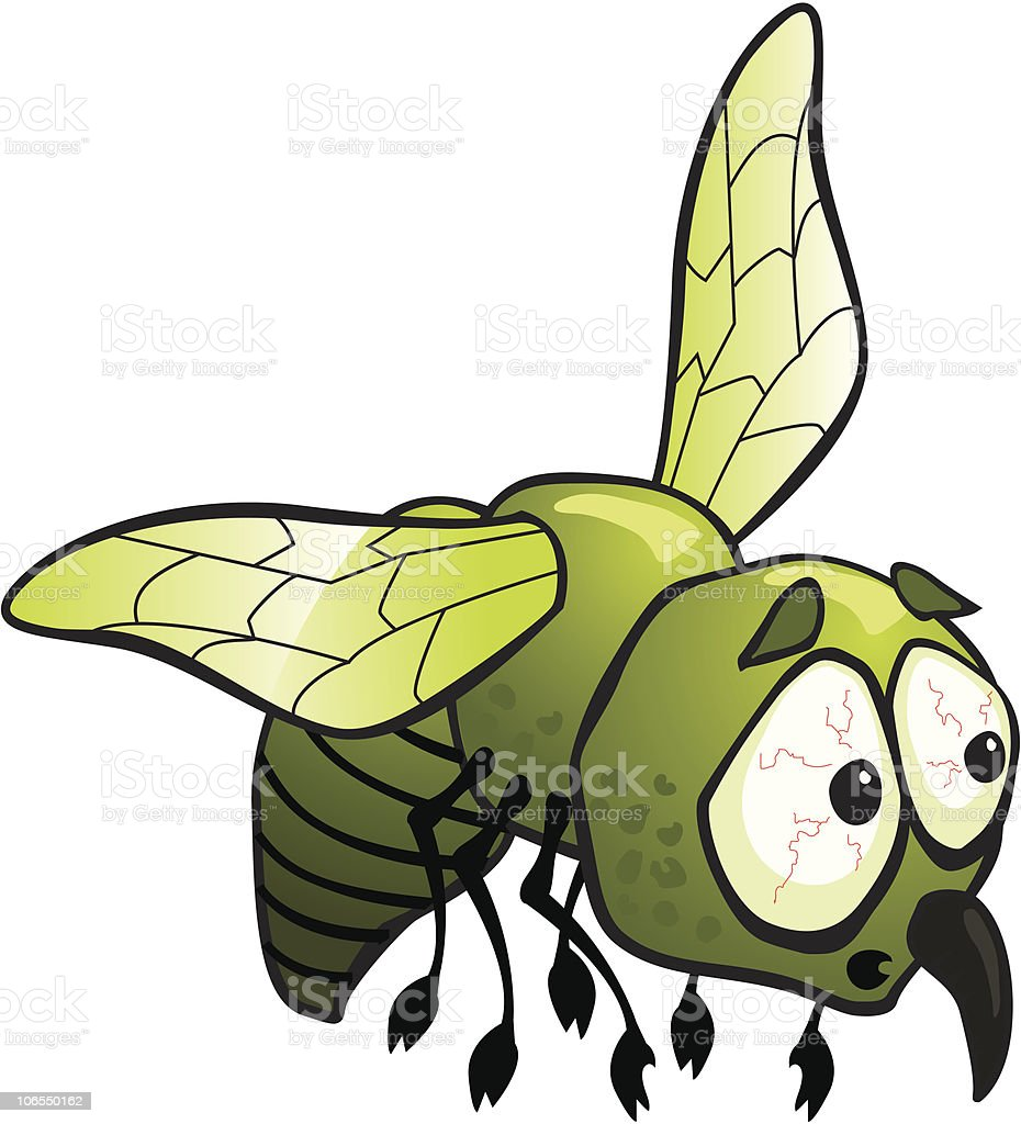 worried mosquito royalty-free stock vector art