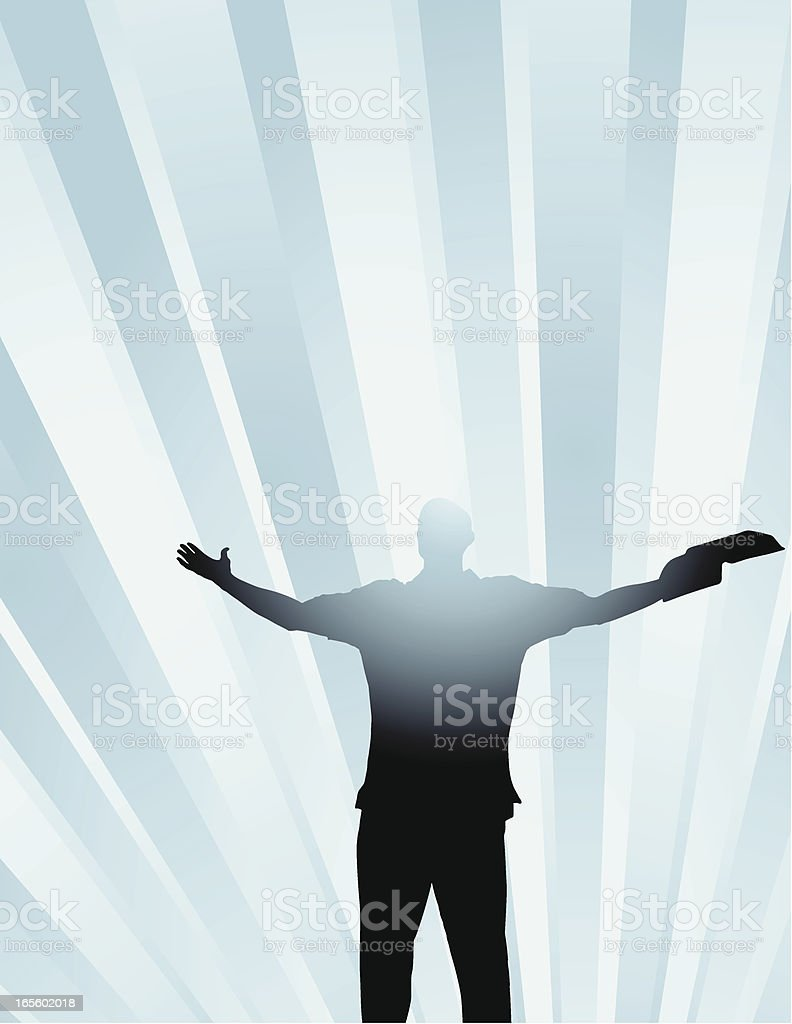 Worshipper royalty-free stock vector art