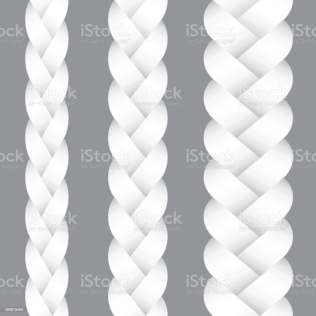 Woven Braid vector art illustration