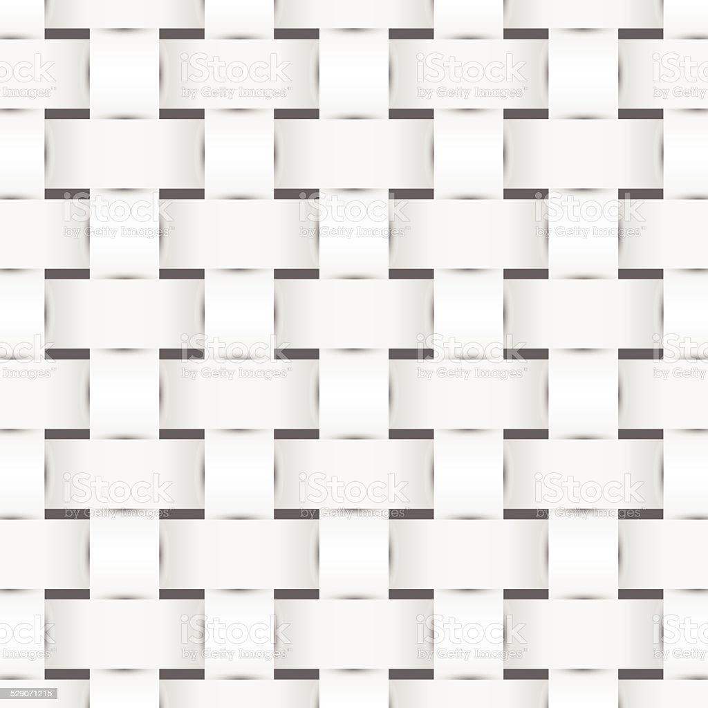 Woven monochrome pattern vector art illustration