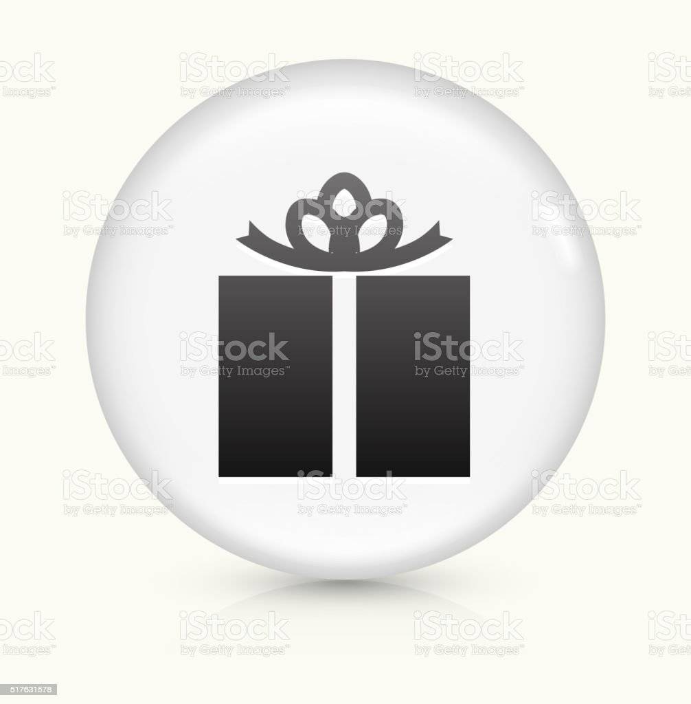 Wrapped Present icon on white round vector button vector art illustration
