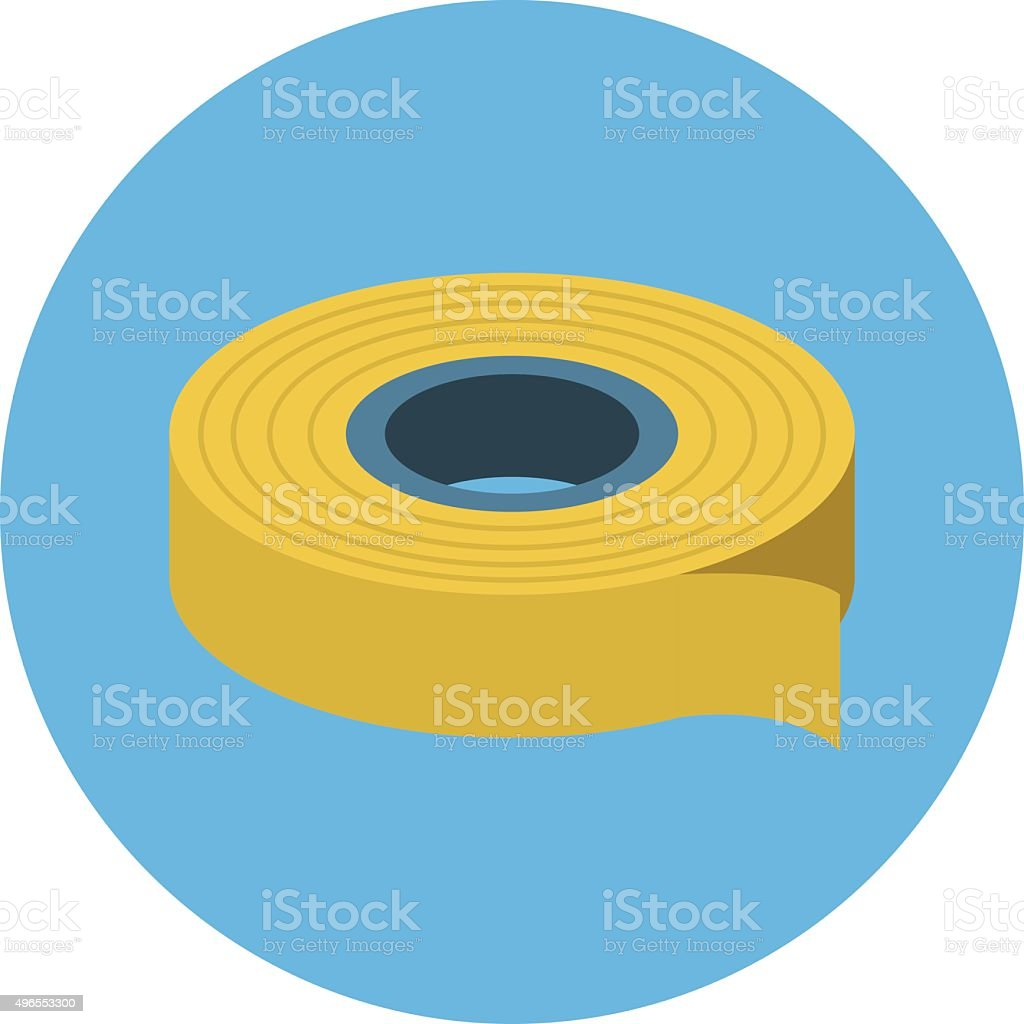 Wrapping Tape Colored Vector Illustration vector art illustration