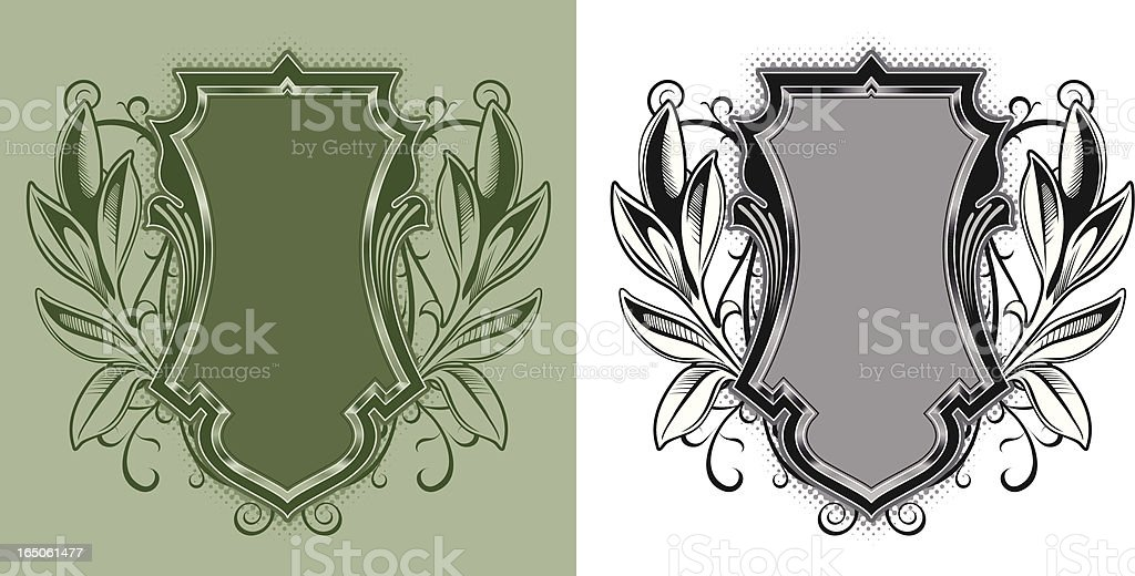 wreath crest royalty-free stock vector art