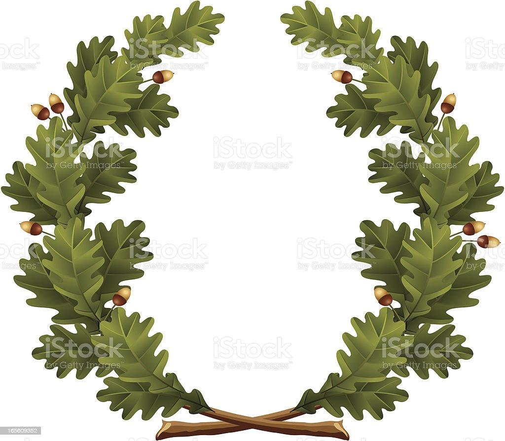 Wreath oak royalty-free stock vector art