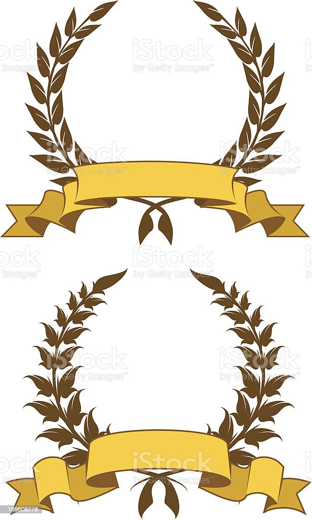 wreath ribbon royalty-free stock vector art