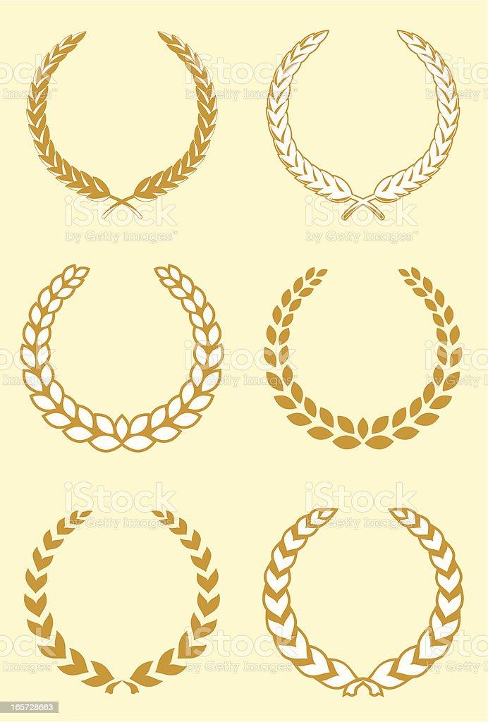 Wreath Set royalty-free stock vector art