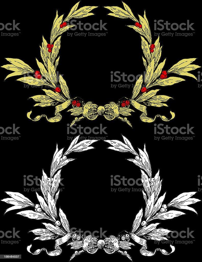 Wreath royalty-free stock vector art