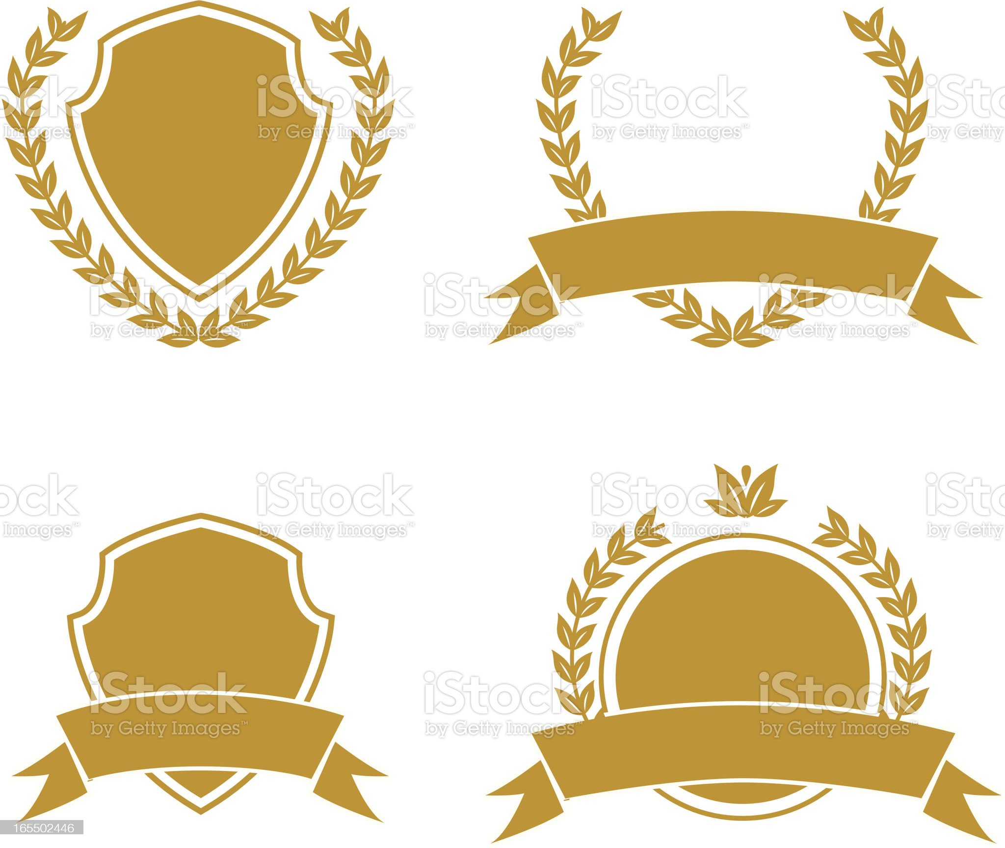 wreaths and shields royalty-free stock vector art