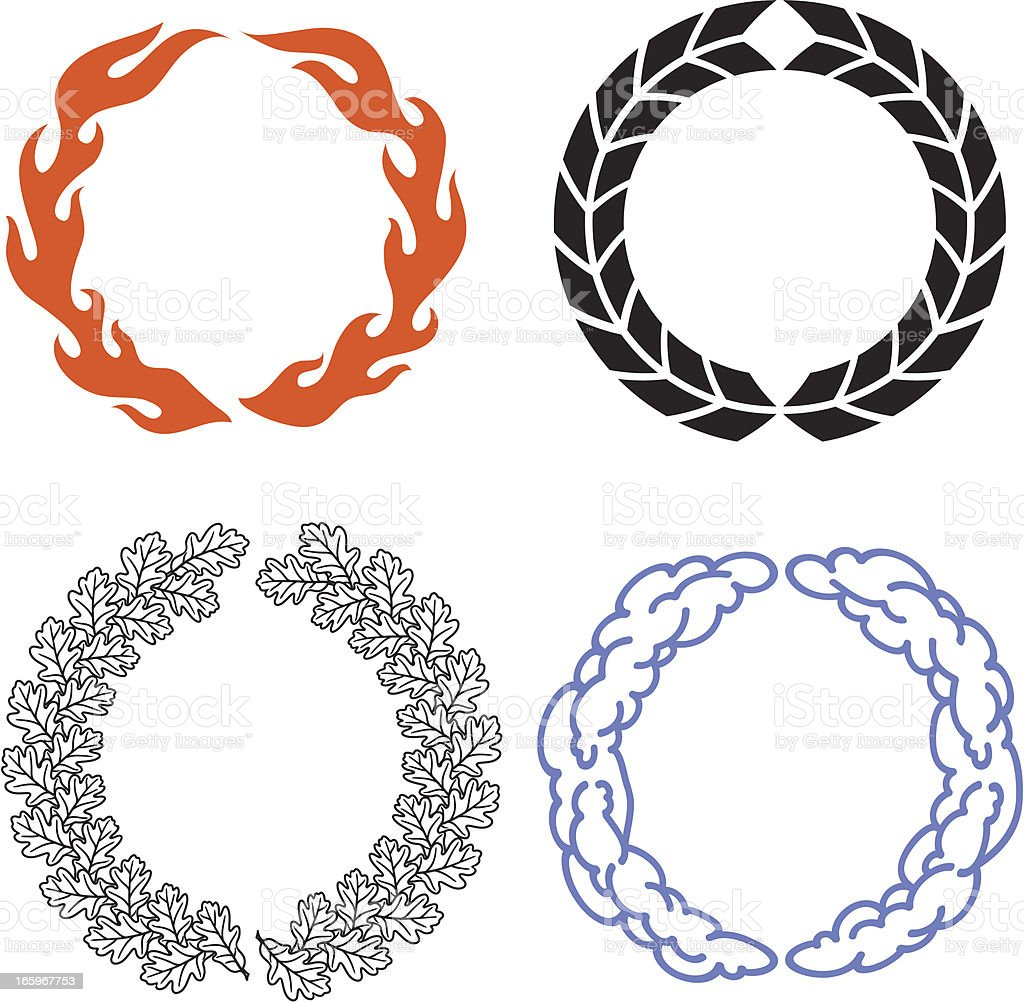 Wreaths royalty-free stock vector art