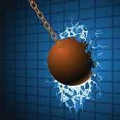 Wrecking ball & wall