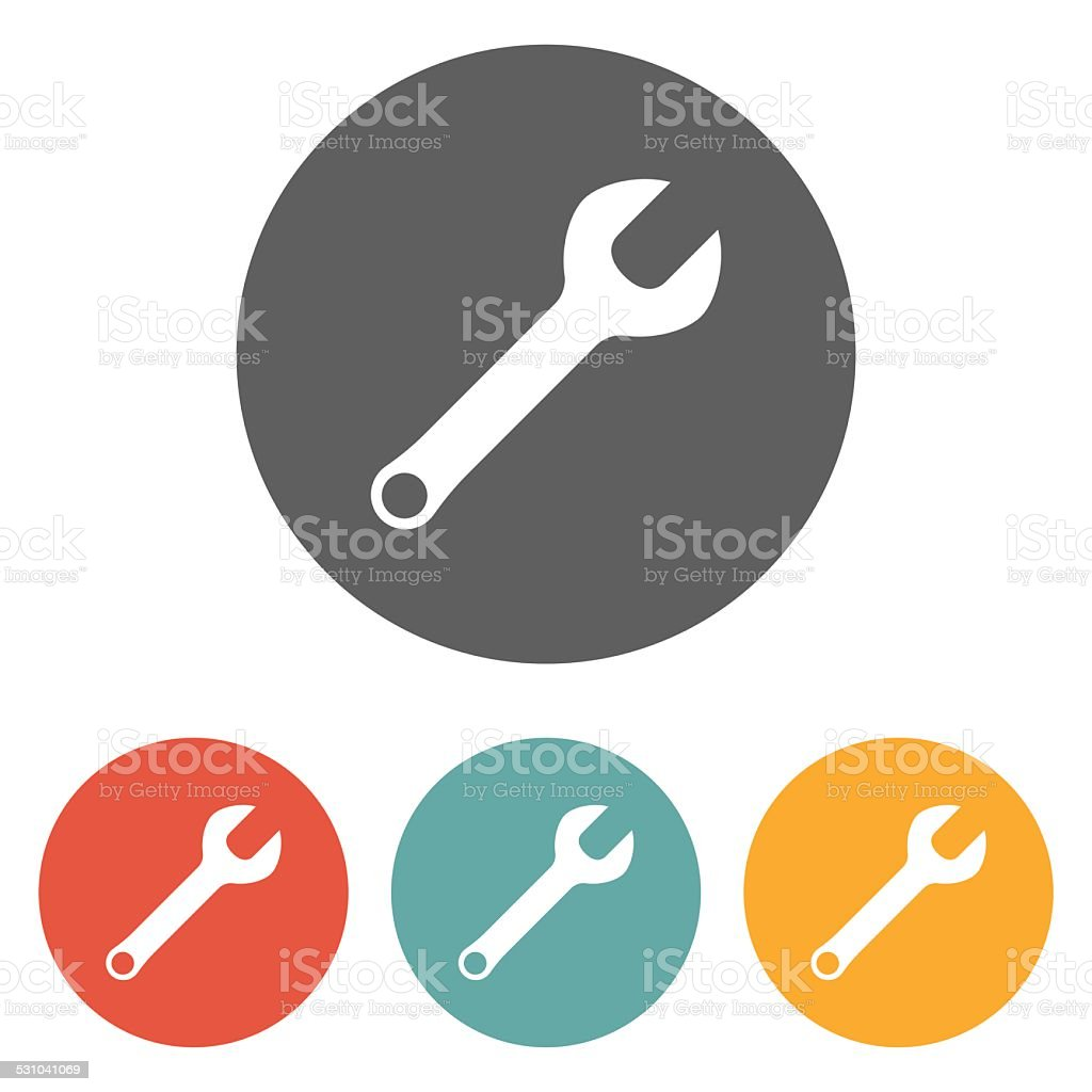 wrench icon vector art illustration