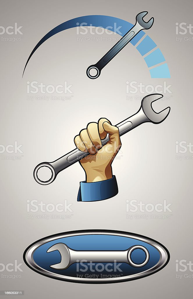 Wrench Logos royalty-free stock vector art