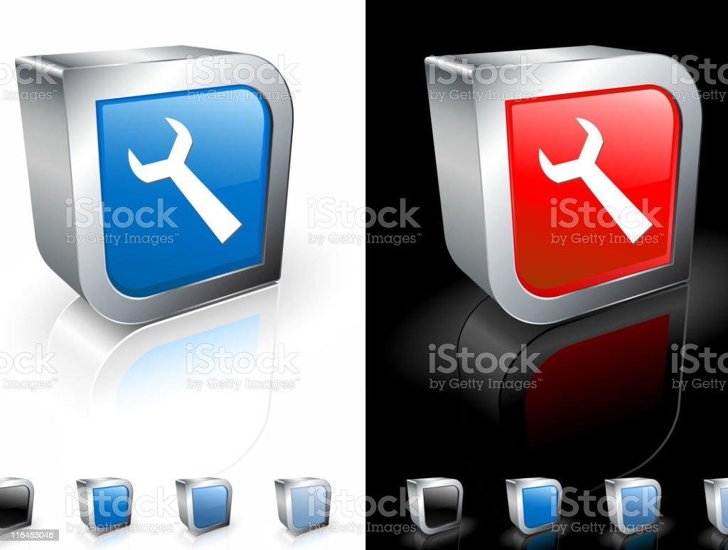 wrench square royalty free vector art royalty-free stock vector art