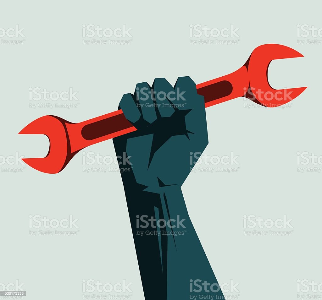 Wrench vector art illustration