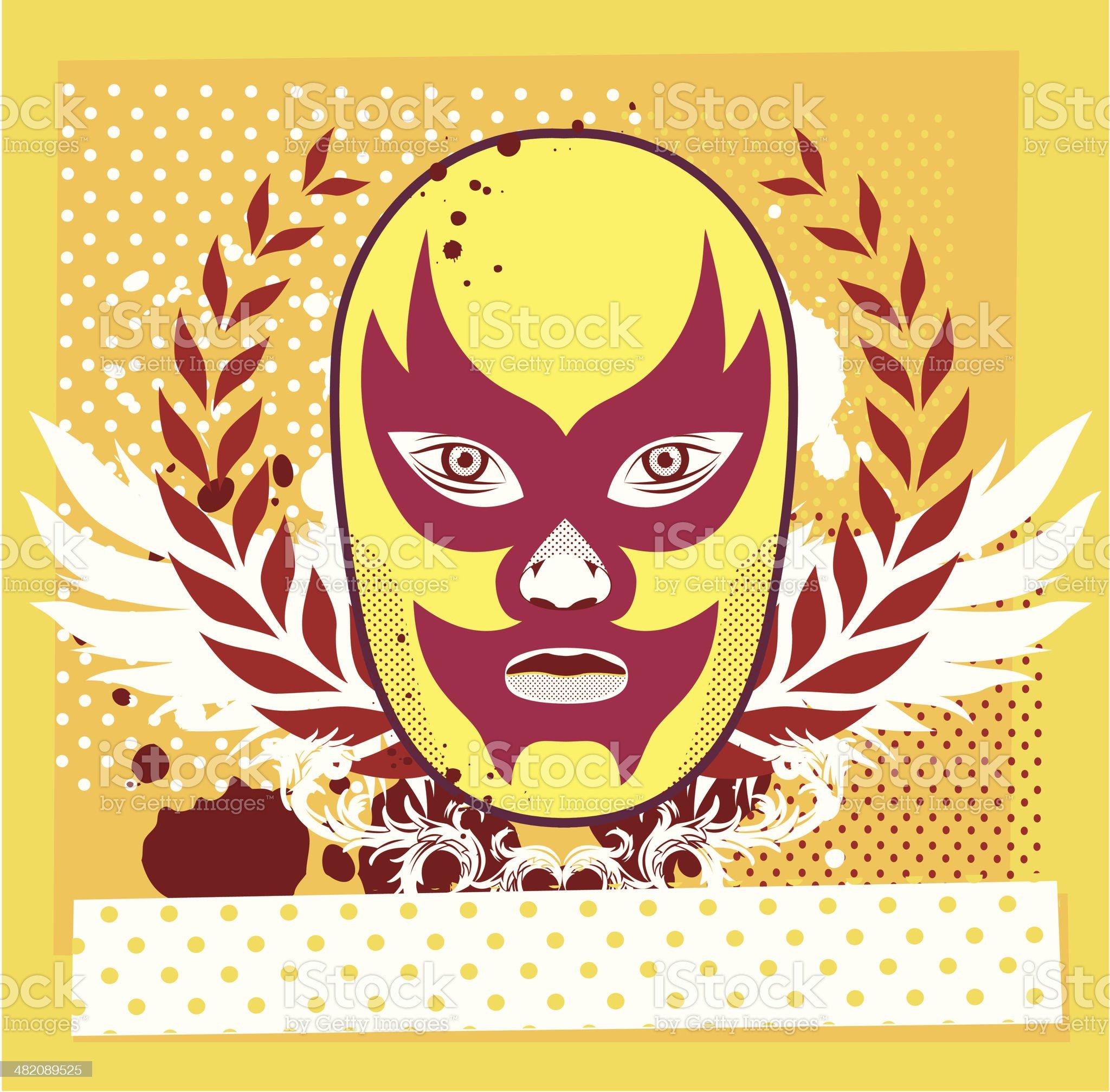 Wrestling royalty-free stock vector art