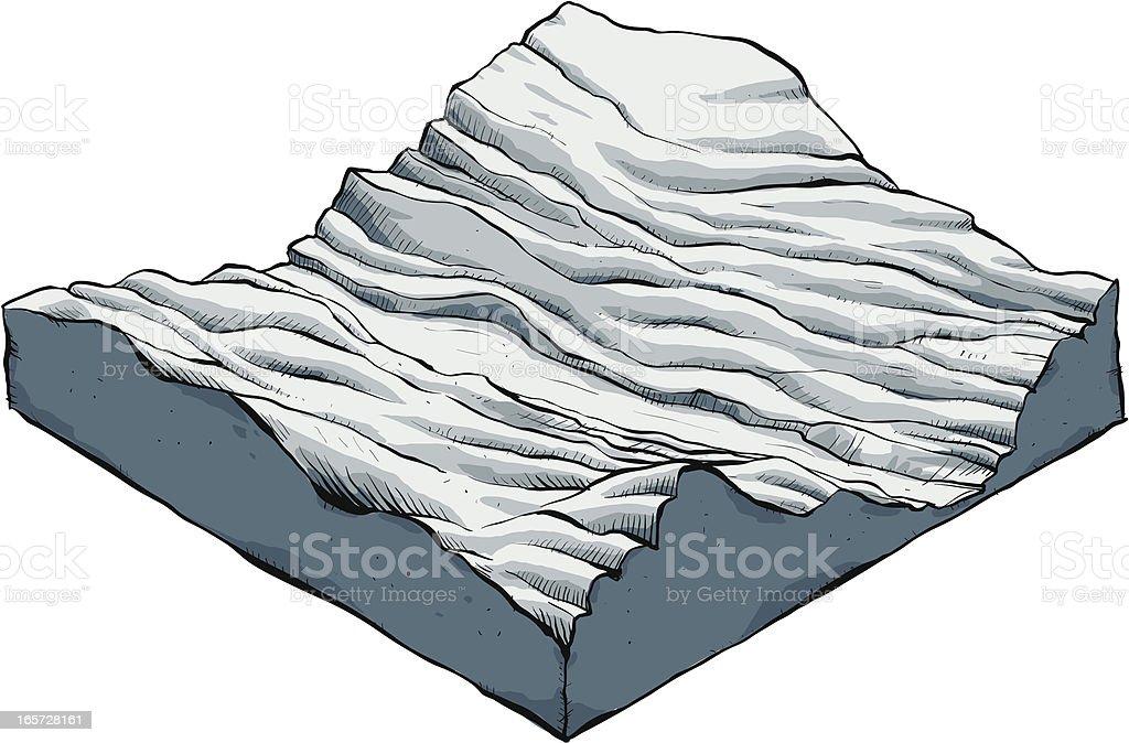 Wrinkled Terrain. royalty-free stock vector art