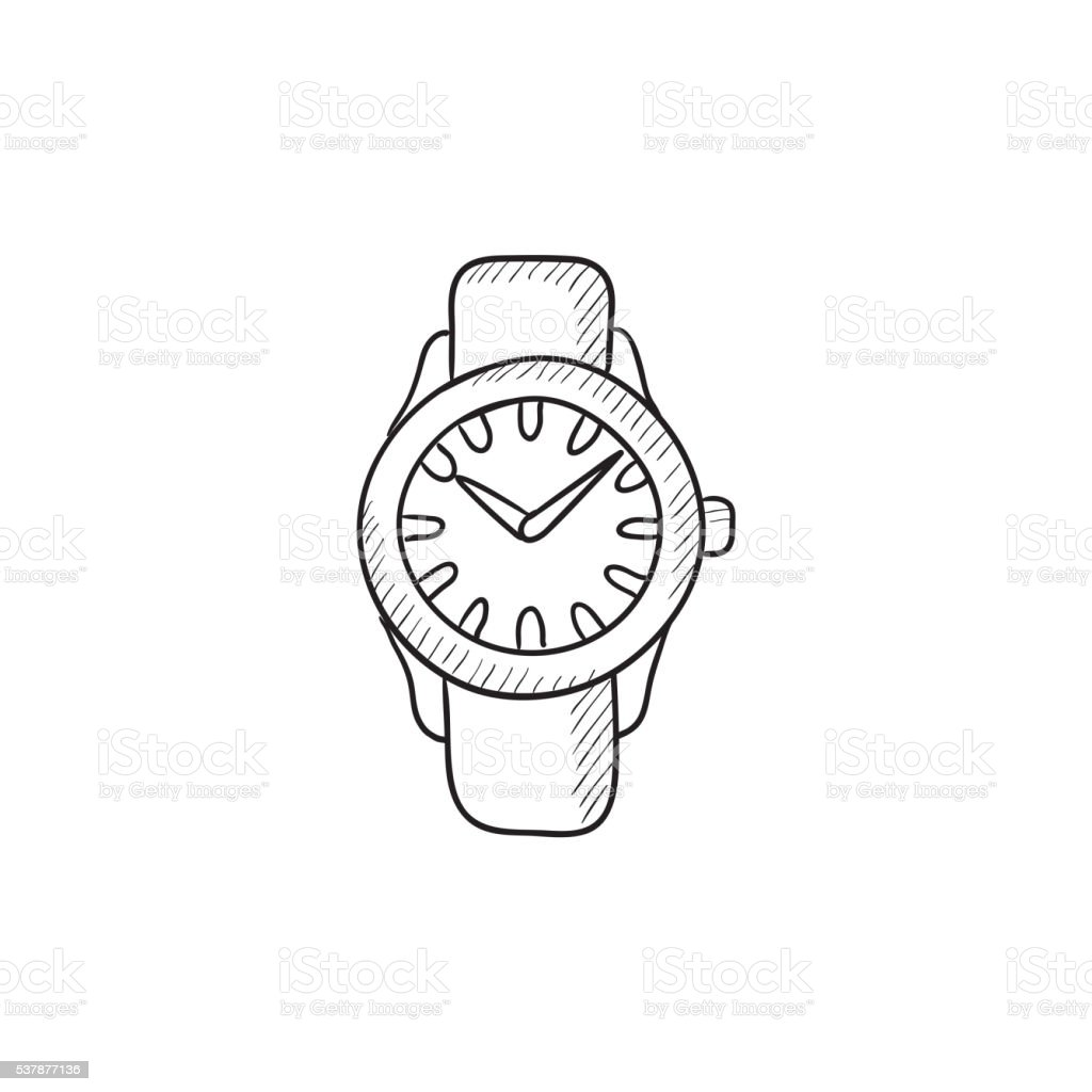 Armbanduhr skizze  Armbanduhr Skizzesymbol Vektor Illustration 537877136 | iStock