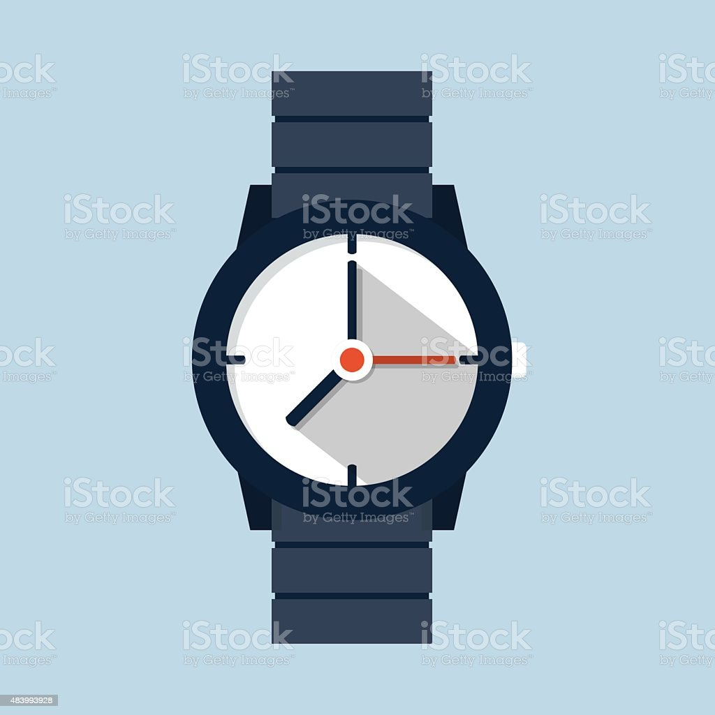 Wristwatch icon vector art illustration