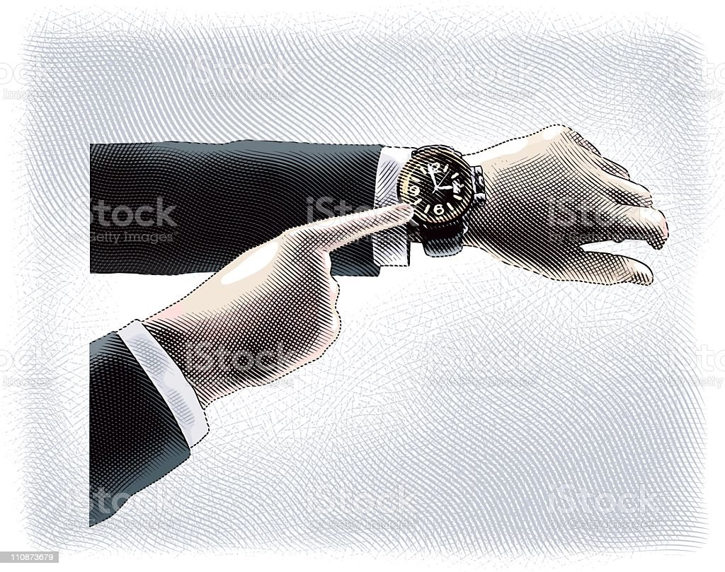 Wristwatch royalty-free stock vector art