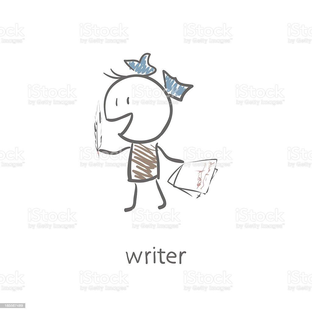 Writer royalty-free stock vector art
