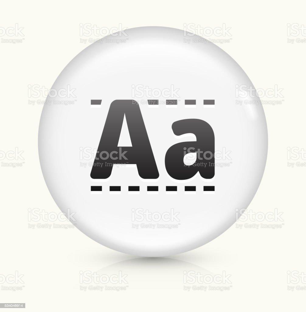 Writing Alphabet icon on white round vector button vector art illustration