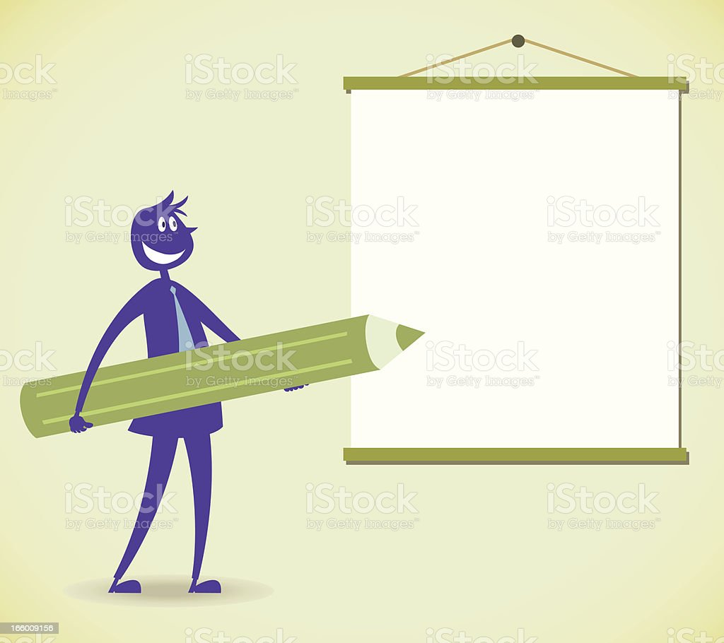 Writing the message royalty-free stock vector art