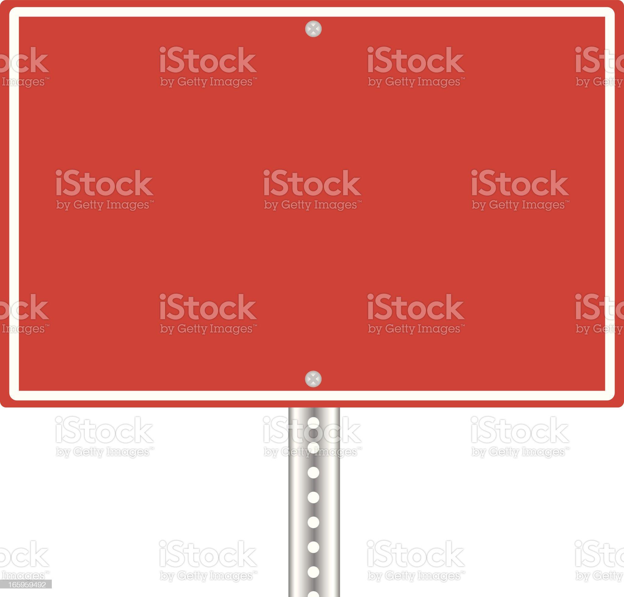 Wrong Way Sign Blank royalty-free stock vector art