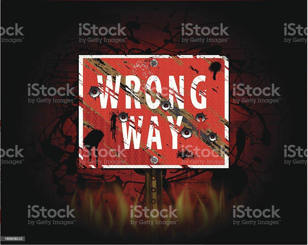 Wrong Way | Urban Grunge Background royalty-free stock vector art