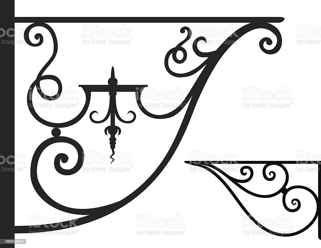 Wrought iron brackets royalty-free stock vector art