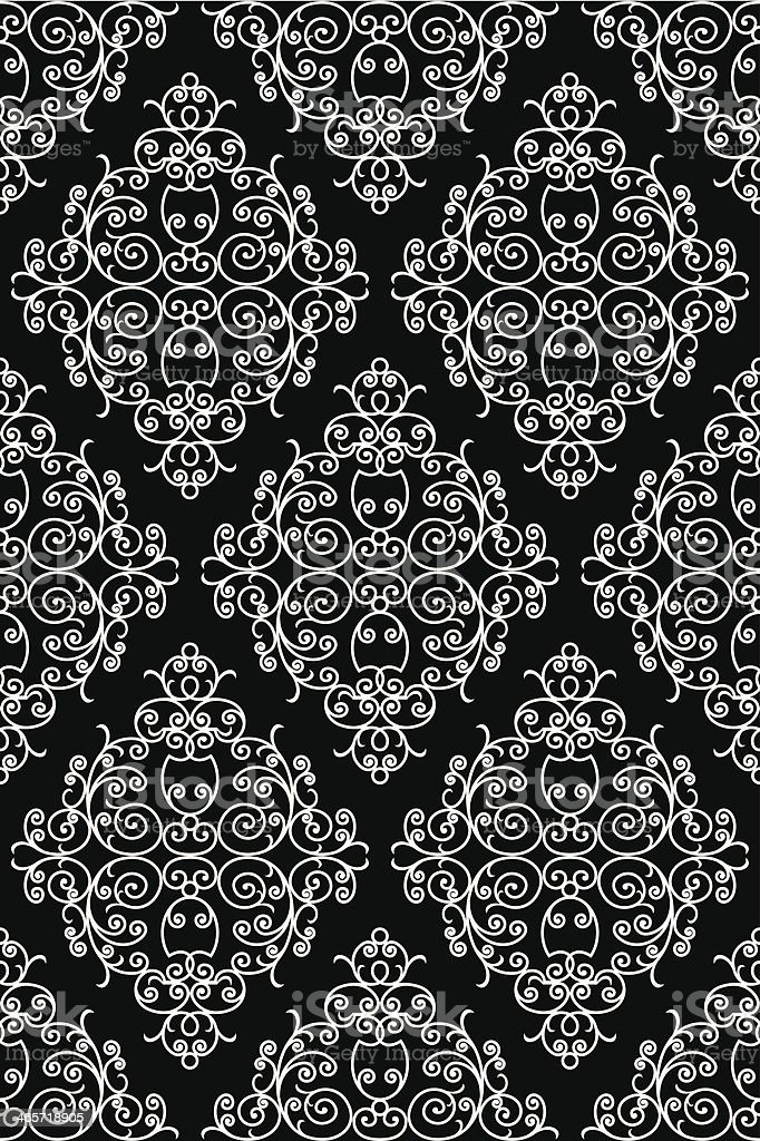 wrought iron pattern vector art illustration