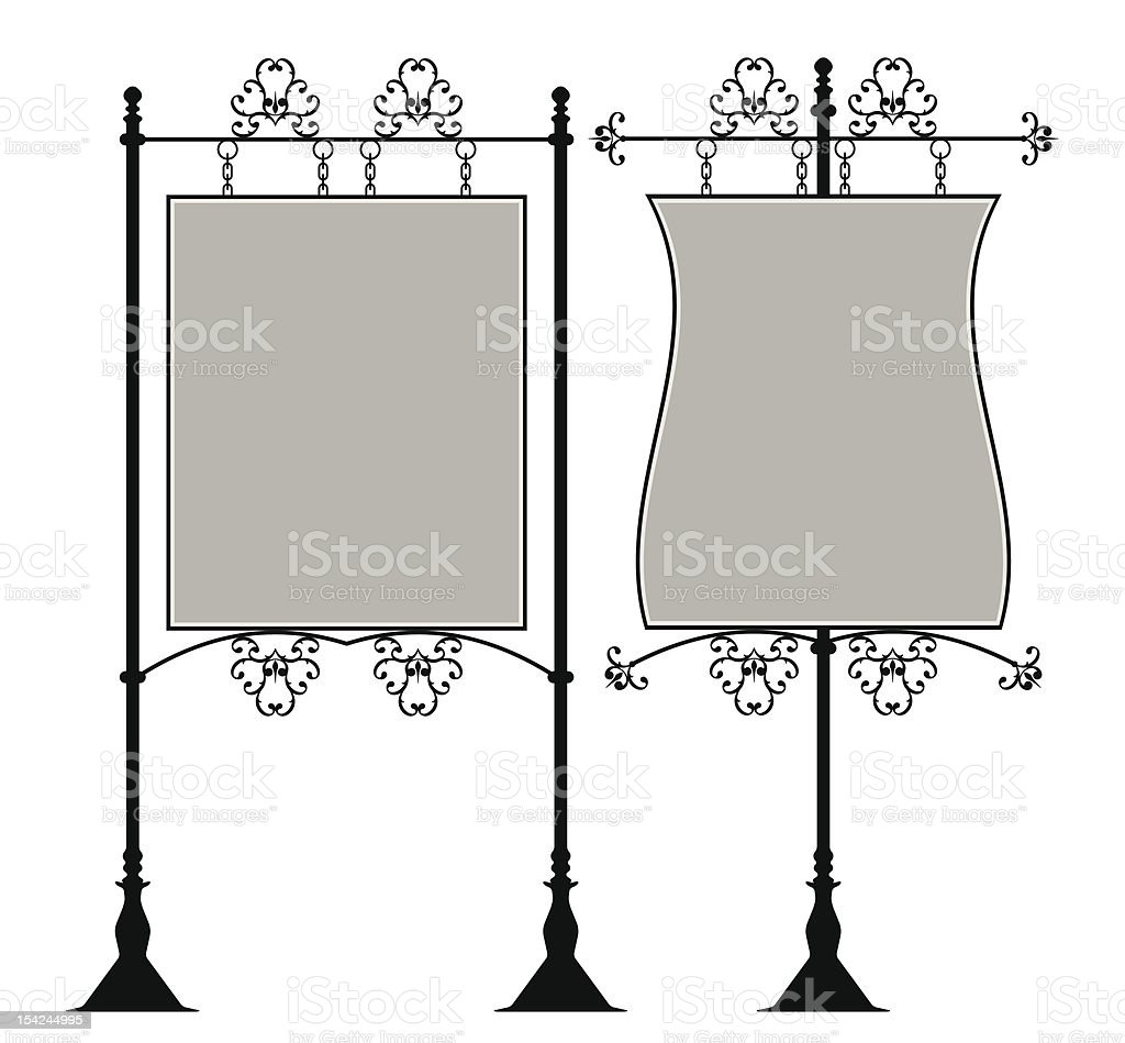 Wrought Iron Signage vector art illustration
