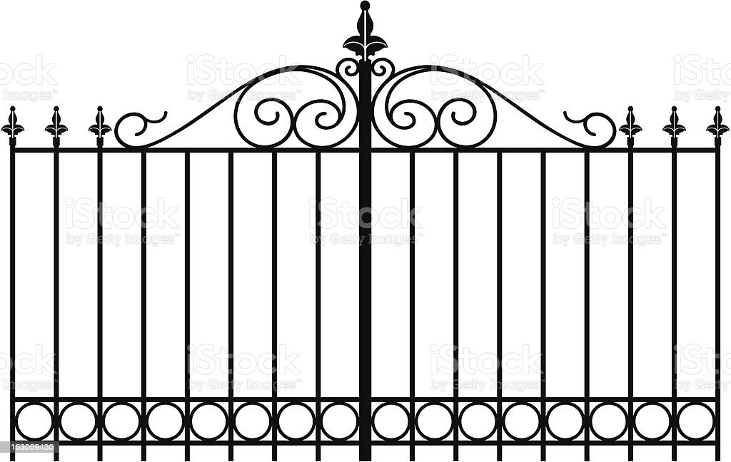 wrought iron4 royalty-free stock vector art