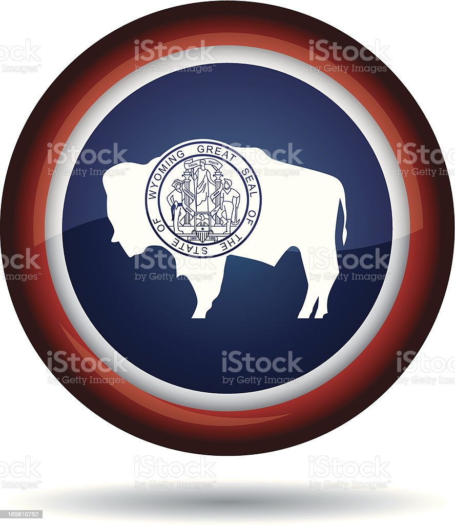 Wyoming flag royalty-free stock vector art