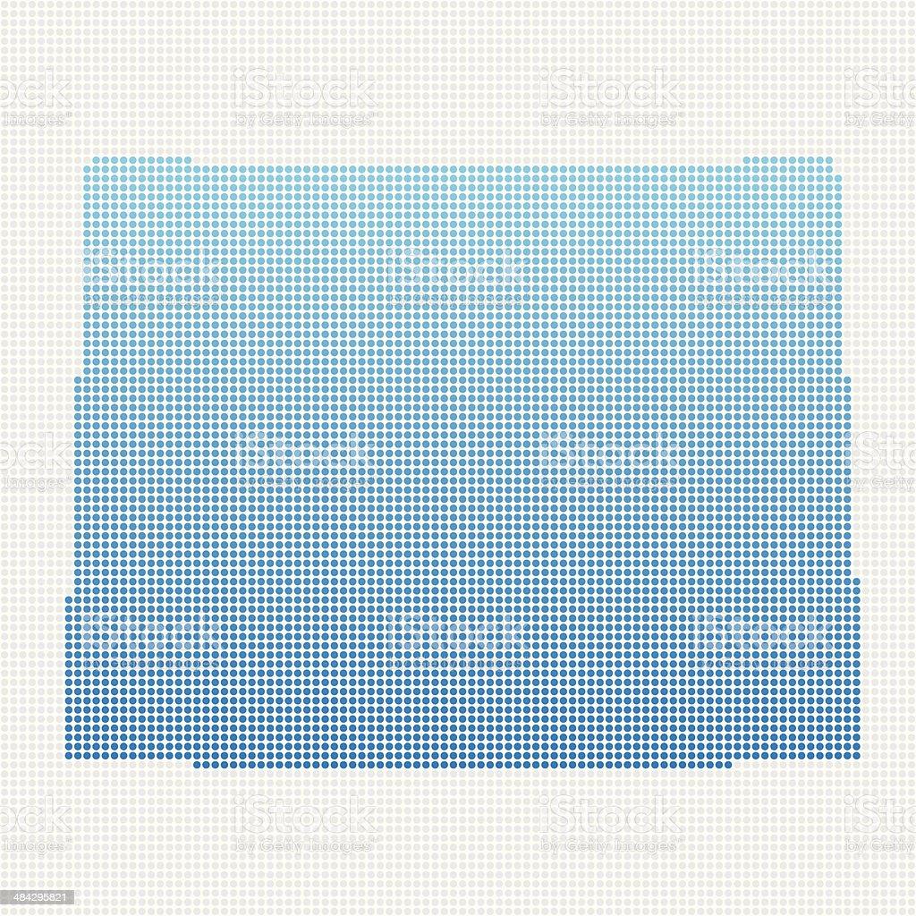 Wyoming Map Blue Dot Pattern royalty-free stock vector art