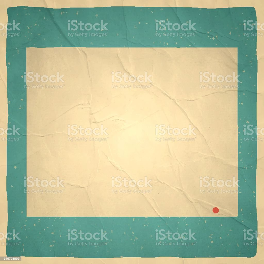 Wyoming Map on old paper - vintage texture vector art illustration