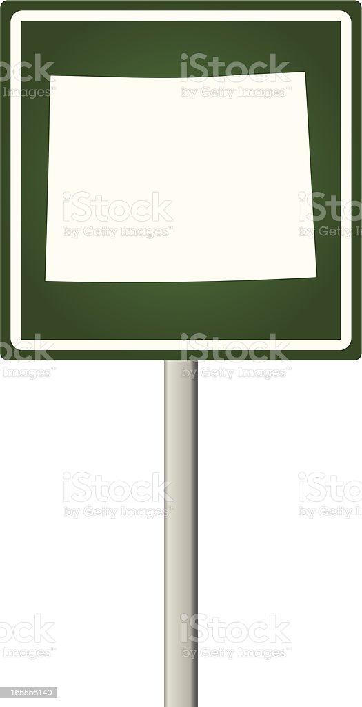 Wyoming Sign vector art illustration